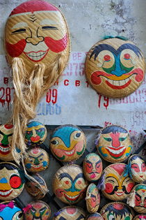 Vietnamese bamboo masks for sale by Sami Sarkis Photography