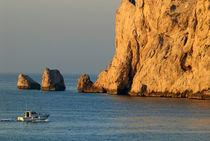 Fishing boat near Maire Island at sunrise by Sami Sarkis Photography