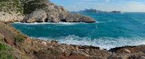 Panoramic view of Mediterranean coast by Sami Sarkis Photography