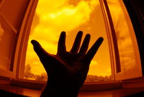 Man with outstretched hand by window by Sami Sarkis Photography