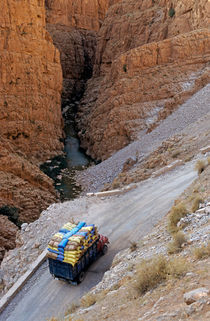 Heavy Loaded Truck In The Valley by Sami Sarkis Photography
