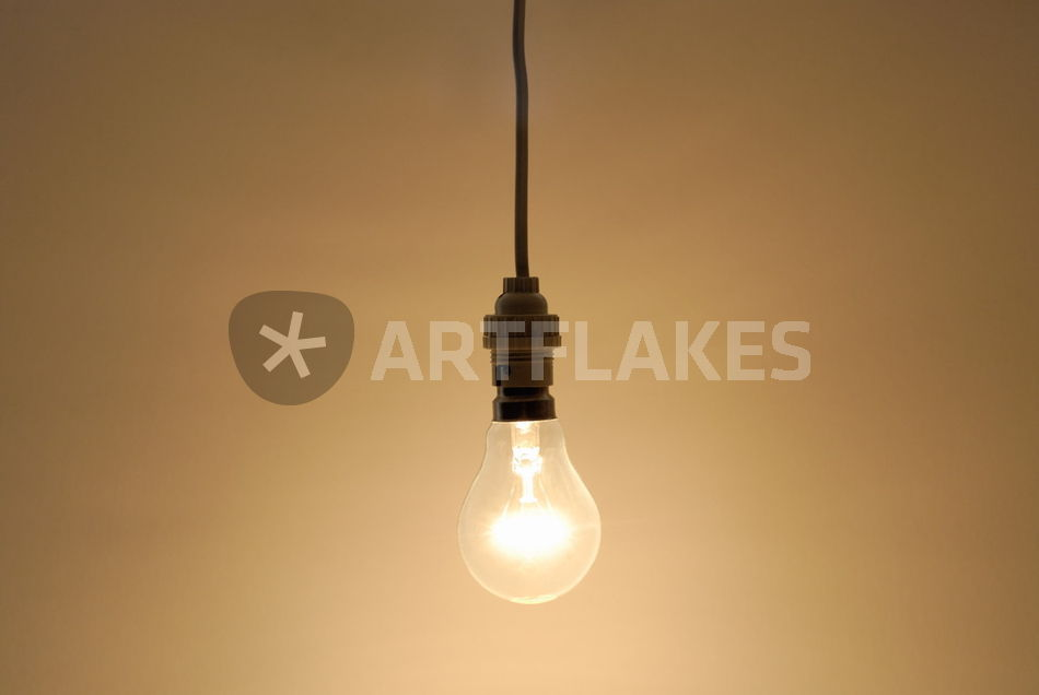 bare hanging light bulb photography art prints and posters by sami