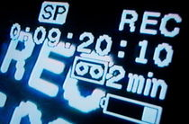 Recording information on television screen von Sami Sarkis Photography