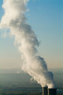Smoke emitting from cooling towers of Tricastin Nuclear Power Plant by Sami Sarkis Photography