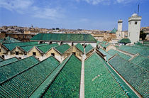 Rooftops of the buildings and mosque of the University of Al-Karaouine von Sami Sarkis Photography