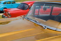 Classic American cars parked in Varadero by Sami Sarkis Photography
