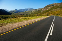 Rural road in the mountains between Stellenbosch and Franschhoek by Sami Sarkis Photography