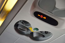 No smoking signs in airplane by Sami Sarkis Photography