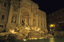 Trevi fountain at night by Sami Sarkis Photography