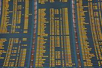 Airport Arrival board von Sami Sarkis Photography