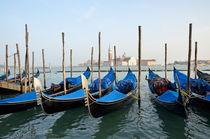 San Giorgio Maggiore church and gondolas by Sami Sarkis Photography