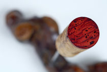 Red Wine cork on corkscrew by Sami Sarkis Photography