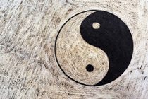 Yin and yang symbol on drum by Sami Sarkis Photography