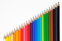 Row of colorful crayons by Sami Sarkis Photography