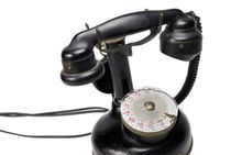 Antique telephone (Thomson 1921) French dial von Sami Sarkis Photography