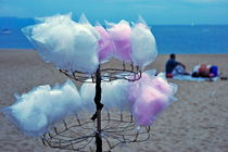 Cotton candy on stall by Sami Sarkis Photography
