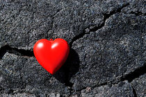 Heartshape on cold black lava von Sami Sarkis Photography