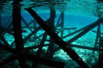 Pontoon underwater by Sami Sarkis Photography