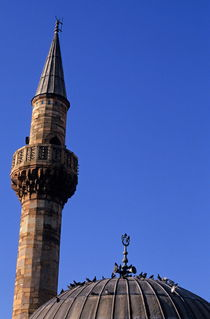 Minaret and pigeons by Sami Sarkis Photography