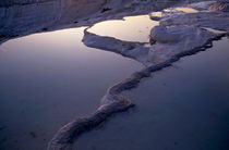 Sunset over the famous 'cotton castle' pools of Pamukkale by Sami Sarkis Photography