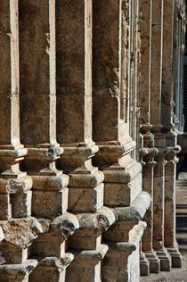 Columns creating the facade of a gothic-style church by Sami Sarkis Photography