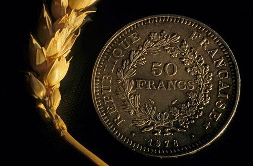 Rf-coin-contrast-crop-franc-french-symbol-wheat-var052