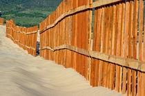 Fenced sand dunes at the beach in Tarifa von Sami Sarkis Photography