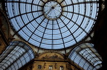 Vaulted glass ceiling of the shopping arcade Galleria Vittorio Emanuele II by Sami Sarkis Photography