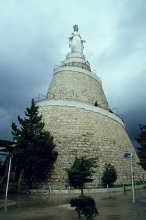 Our Lady of Lebanon statue in Harissa by Sami Sarkis Photography