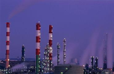 Rf-petrol-refinery-smoke-smokestacks-sunset-idy030