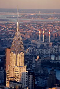 Cityscape showing the Chrysler Building by Sami Sarkis Photography