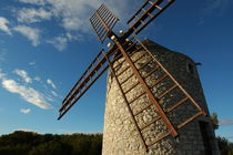 Traditional stone windmill in Les Pennes-Mirabeau by Sami Sarkis Photography