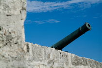 Cannon protruding from the ramparts of the Castillo Real de la Real Fuerza on Plaza de Armas by Sami Sarkis Photography