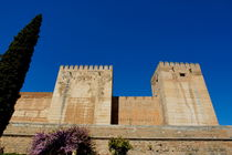 View of the Alcazaba citadel at the Alhambra Palace von Sami Sarkis Photography