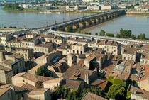 The Pont de Pierre over the Garonne river and surrounding city by Sami Sarkis Photography
