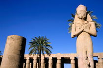 Majestic statue of Ramses II at Karnak Temple by Sami Sarkis Photography