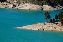 Man-made reservoir along the Guadalhorce river near the village of Ardales in Malaga by Sami Sarkis Photography