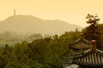 Pavilion rooftops and lush foliage as seen from the Summer Palace von Sami Sarkis Photography