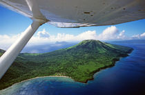 Volcanoes seen from a plane on the island of Efate by Sami Sarkis Photography