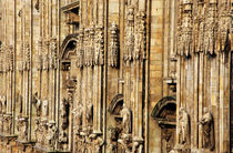 Intricate sculptures on the Milan Cathedral by Sami Sarkis Photography