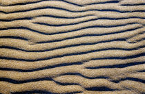 Patterned waves in white sand. by Sami Sarkis Photography