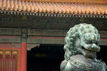 Bronze lion protecting the Gate of Supreme Harmony by Sami Sarkis Photography