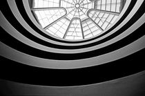 Spiral staircase and ceiling inside The Guggenheim von Sami Sarkis Photography