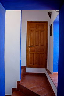 Door and stairwell in a hotel. by Sami Sarkis Photography