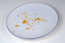Pie crumbs in an empty plate by Sami Sarkis Photography