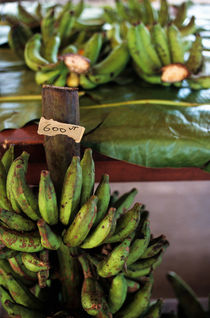 Banana bunches for sale at a market at Port Vila von Sami Sarkis Photography