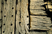 Detail of a wooden door in Vanoise National Park by Sami Sarkis Photography