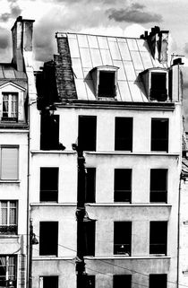 Split roof of a demolished building in Paris by Sami Sarkis Photography