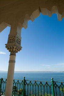 Terrace with a view of the sea on top of the Palacio de Valle on Punta Gorda von Sami Sarkis Photography