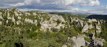 Tree covered rock formations of Chaos de Montpellier-le-Vieux von Sami Sarkis Photography